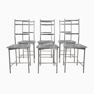 Dining Chairs by Opera Design for Ycami Italia, 1980s, Set of 6