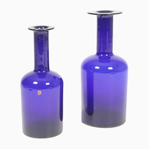 Glass Vases by Otto Brauer for Kastrup glasværk, 1950s, Set of 2