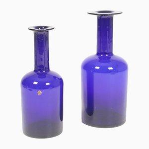 Vases en Verre par Otto Brauer pour Kastrup Glasværk, 1950s, Set de 2