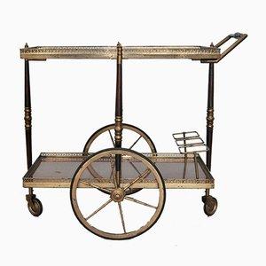 Mid-Century Italian Mahogany & brass Trolley