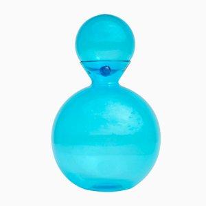 Vase en Verre de Murano Bleu Azur par Egidio Costantini pour De Majo, 1992