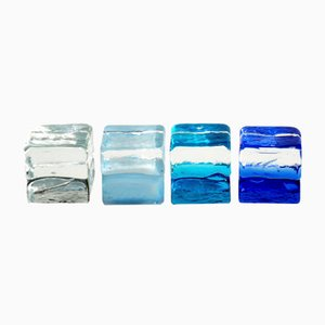 Fermacarte in vetro di Murano di Giusto Toso per Fratelli Toso, anni '60, set di 4