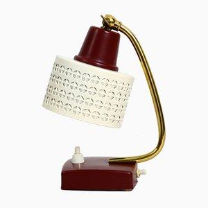 Deutsche Nachttischlampe aus Metall & Messing, 1950er