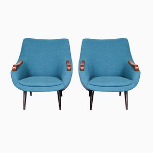 Mid-Century Dutch Lounge Chairs, Set of 2