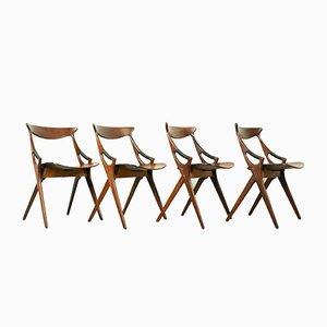 71 Esszimmerstühle von Arne Hovmand-Olsen für Mogens Kold, 1950er, 4er Set