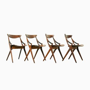 Chaises de Salle à Manger 71 par Arne Hovmand-Olsen pour Mogens Kold, années 50, Set de 4