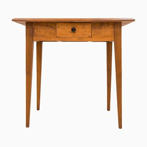 Antique German Cherry Wood Console Table