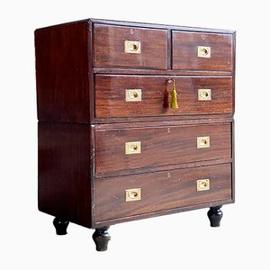Antique Victorian Military Dresser, 1890s
