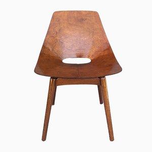 Modell Barrel Beistellstuhl von Pierre Guariche für Steiner, 1950er