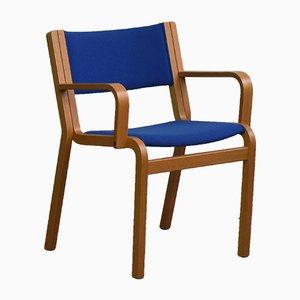 Oak Plywood Desk Chair by Thygesen & Sørensen for Magnus Olesen, 1970s