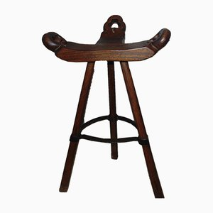 Antique Neo-Gothic Wooden Stool