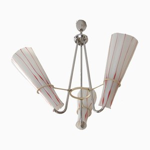 Lámpara de araña niquelada de ESC Zukov, años 70