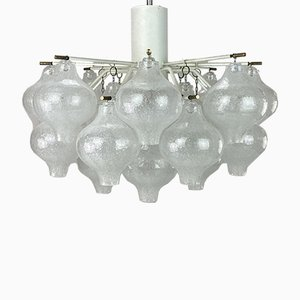 Mid-Century Tulip Glass Chandelier from Kalmar Franken KG