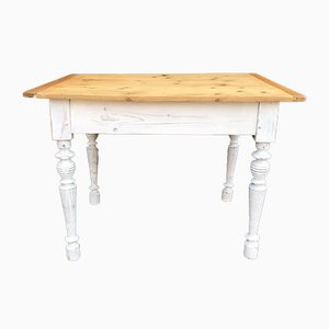 Antique Softwood and Beech Dining Table