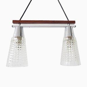 Minimalistische deutsche Deckenlampe, 1960er