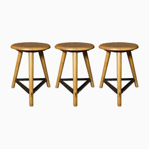 Stools from AMA., 1930s, Set of 3