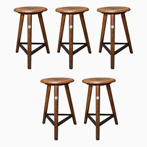 Stools from AMA., 1930s, Set of 5