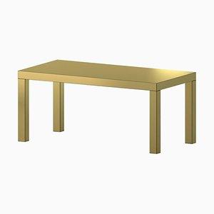 Mesa o escritorio Hitan dorada de Chapel Petrassi
