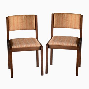Walnut Dining Chairs, 1960s, Set of 2
