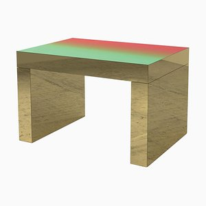 Red-Green Polished Aluminium Gaby Gradient Coffee Table by Chapel Petrassi