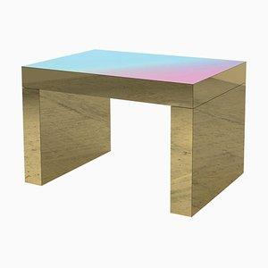Tavolino da caffè Gaby in alluminio lucidato rosa e azzurro di Chapel Petrassi