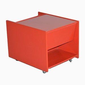 Red Serving Bar Cart from Fratelli Longhi, 1970s