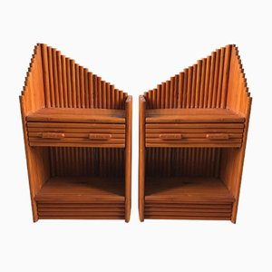 Bamboo Nightstands, 1970s, Set of 2
