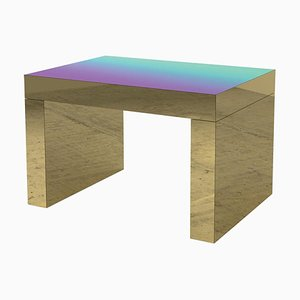Violet-Azure Polished Aluminium Gaby Gradient Coffee Table by Chapel Petrassi