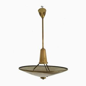Mid-Century Brass Ceiling Lamp, 1950s