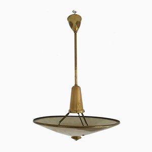 Mid-Century Deckenlampe aus Messing, 1950er
