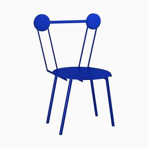 Chaise Haly Bleue par Chapel Petrassi