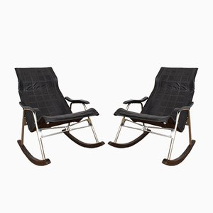 Mid-Century Japanese Rocking Chairs by Takeshi Nii, Set of 2