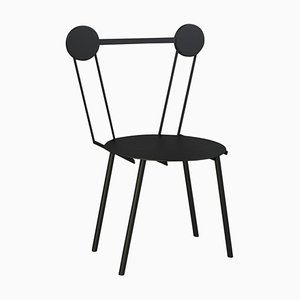 Haly Black Chair by Chapel Petrassi