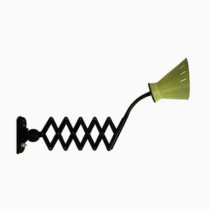 Lámpara de acordeón holandesa vintage, años 50