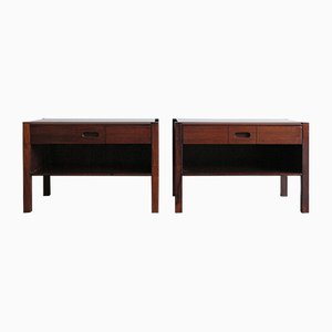 Rosewood Nightstands by Giovanni Ausenda for Stilwood, 1960s, Set of 2