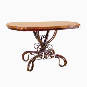Tavolo da pranzo nr. 5 Art Nouveau antico di Michael Thonet per Thonet, fine XIX secolo