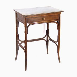 Antique Art Nouveau Sewing Table by Michael Thonet for Fischel, 1910s