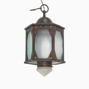 Antike industrielle Lampe aus Kupfer