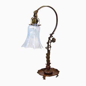 Lampe de Bureau Art Déco en Cuivre, années 1900