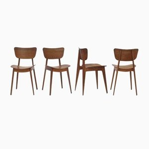 Mid-Century Model 6517 Dining Chairs by Roger Landault for Boutier, Set of 4