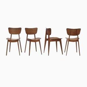 Mid-Century Modell 6517 Esszimmerstühle von Roger Landault für Boutier, 4er Set