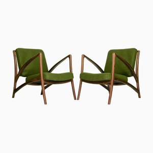 Dutch Curved Sculptural Lounge Chairs from Savelkouls