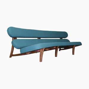 Geschwungenes niederländisches 3-Sitzer Sofa mit skulpturalem Gestell von Savelkouls