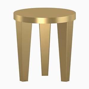 Gold BobStool by Chapel Petrassi