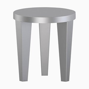 Silver Bob Stool by Chapel Petrassi