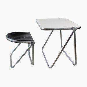 Tavolino con sedia di Giancarlo Piretti per Castelli / Anonima Castelli, anni '60
