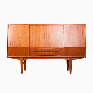 Danish Teak Veneer and Rosewood Sideboard, 1960s