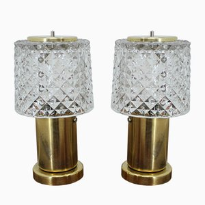Petites Lampes de Bureau de Kamenický Šenov, 1970s, Set de 2