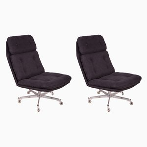 Mid-Century Czech Swivel Chairs, 1960s, Set of 2