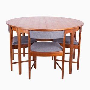 Mid-Century Esstisch & Stühle aus Teak von McIntosh, 1960er, 5er Set